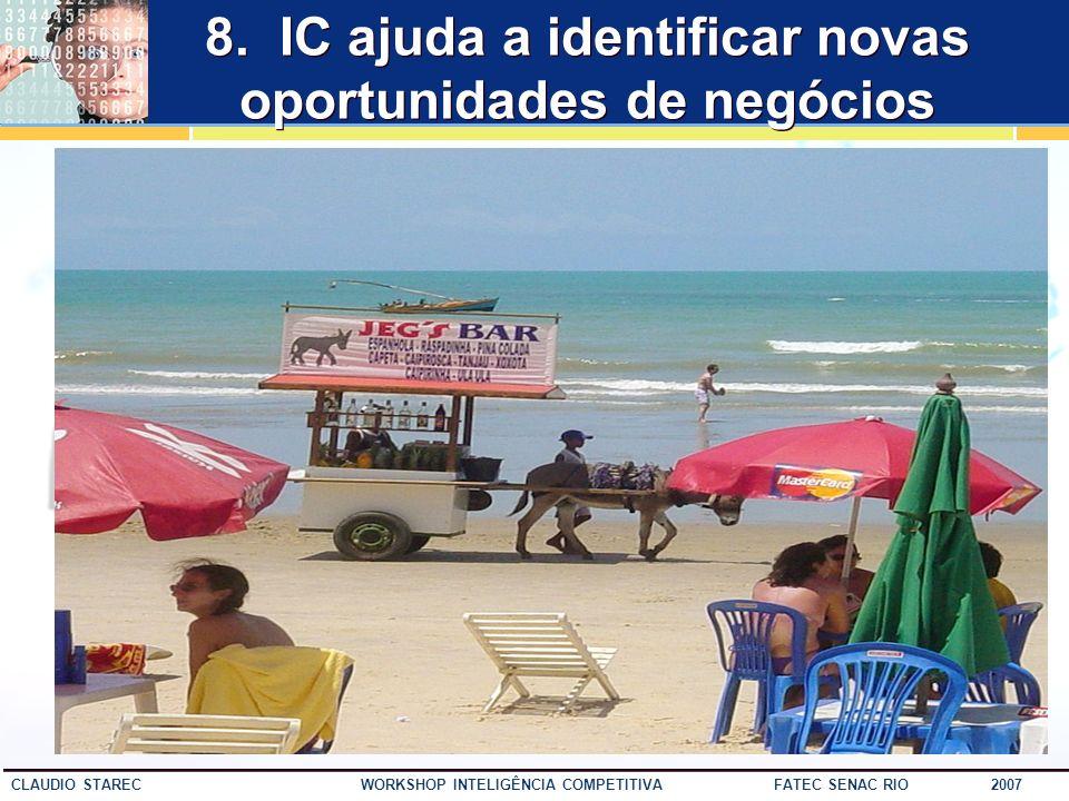 8. IC ajuda a identificar novas oportunidades de negócios