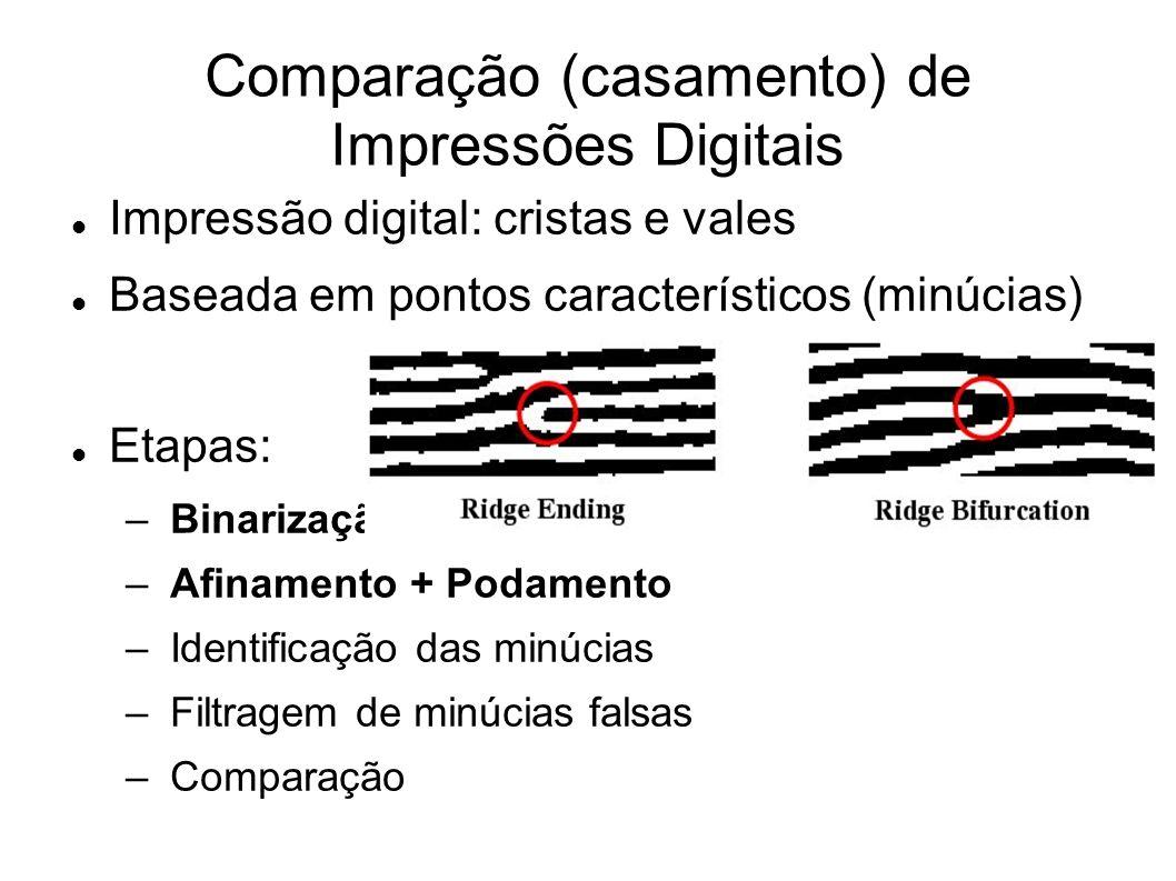 Comparação (casamento) de Impressões Digitais