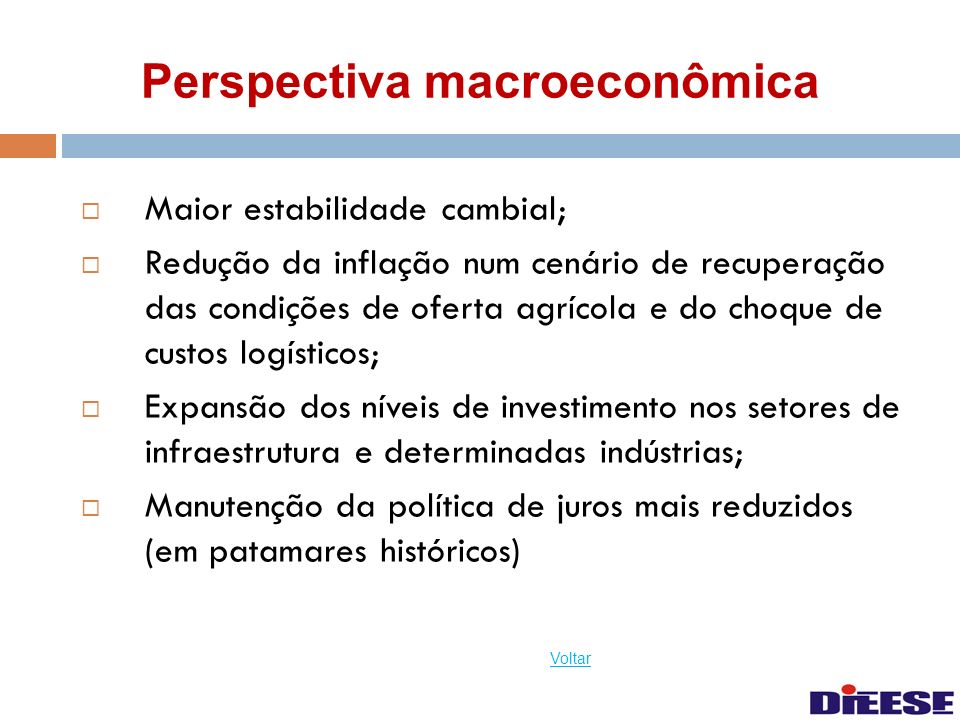 Perspectiva macroeconômica