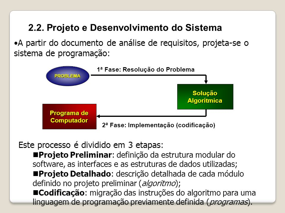 2.2. Projeto e Desenvolvimento do Sistema