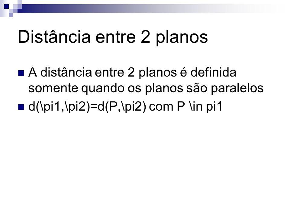 Distância entre 2 planos