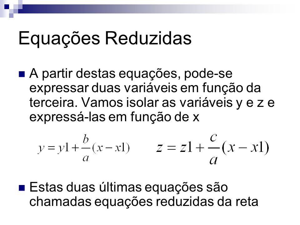 Equações Reduzidas