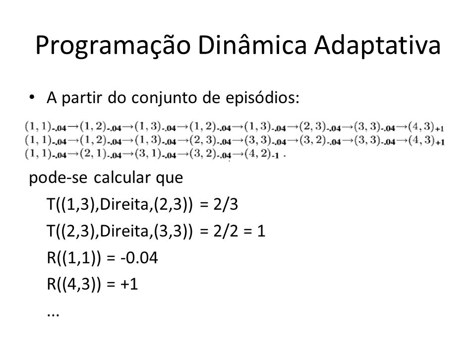 Programação Dinâmica Adaptativa