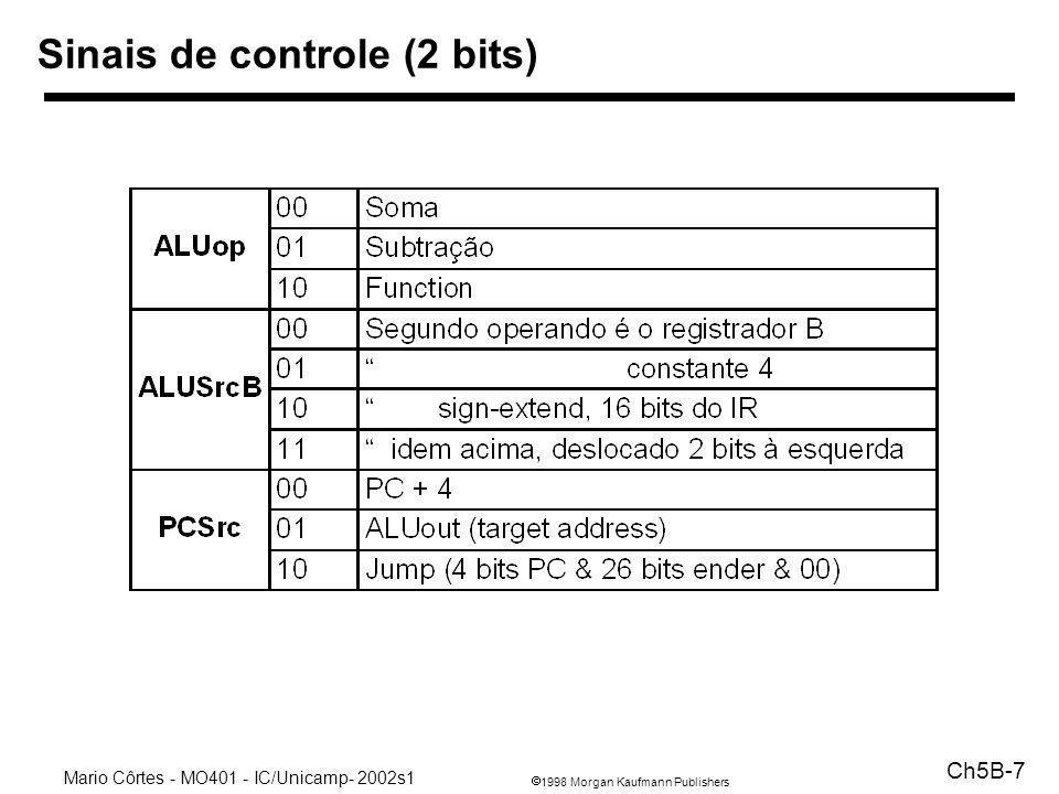 Sinais de controle (2 bits)