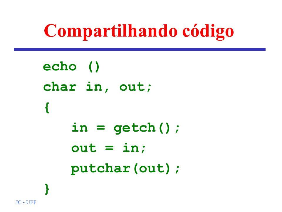 Compartilhando código