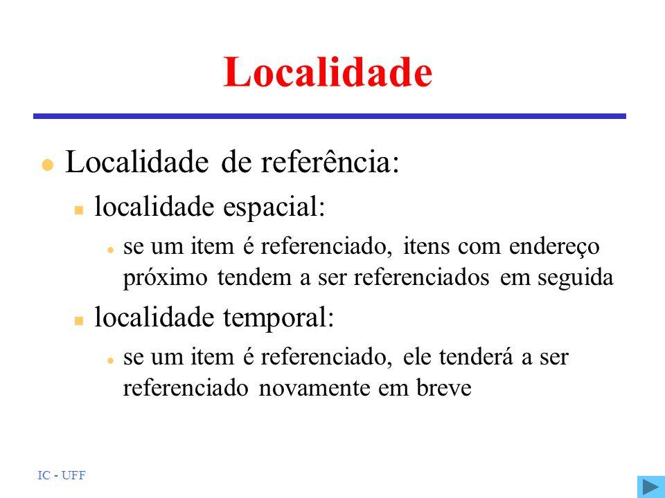 Localidade Localidade de referência: localidade espacial: