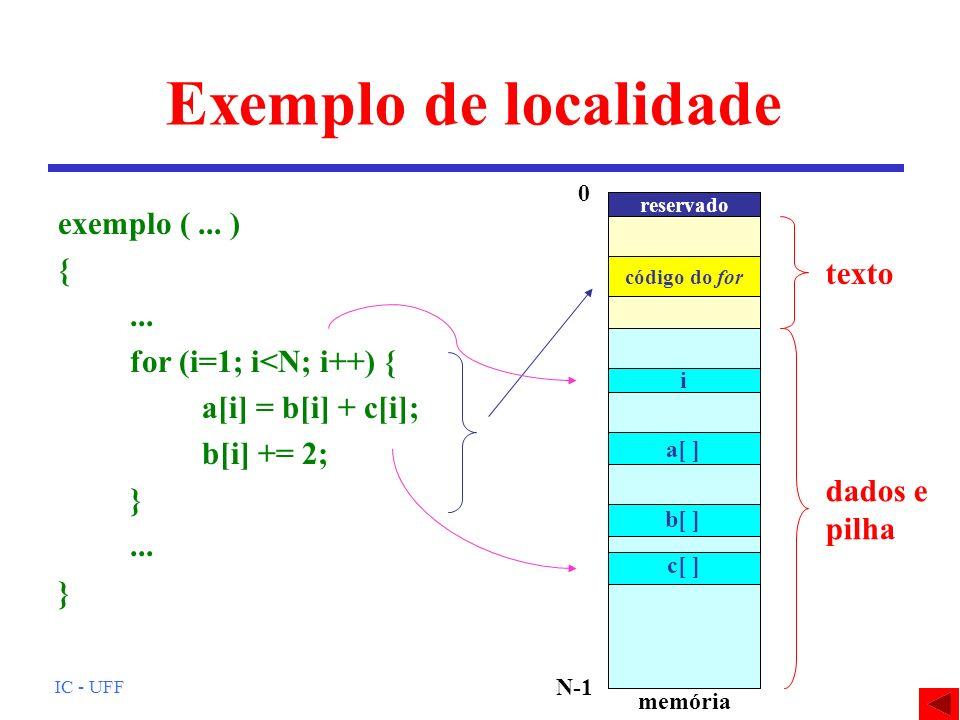 Exemplo de localidade exemplo ( ... ) { ... texto