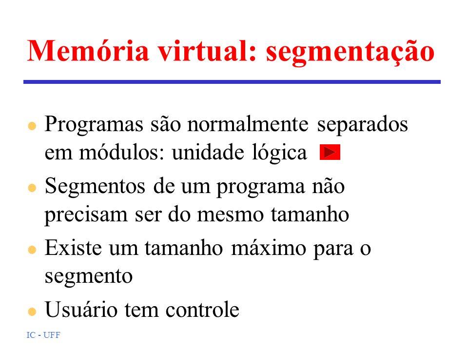 Memória virtual: segmentação
