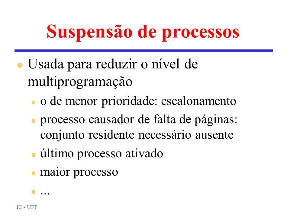 Suspensão de processos