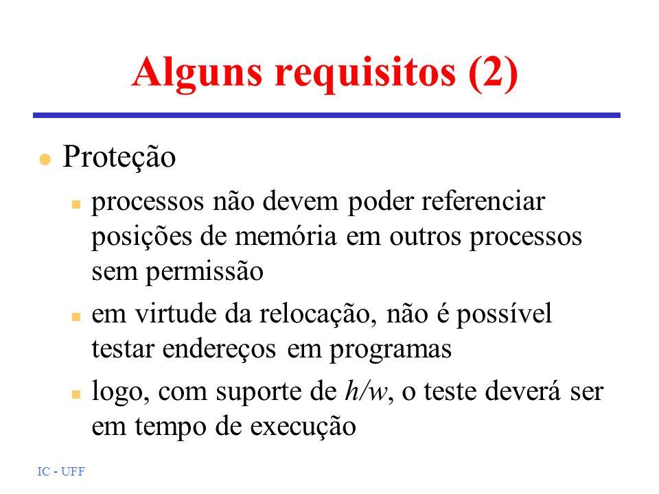 Alguns requisitos (2) Proteção