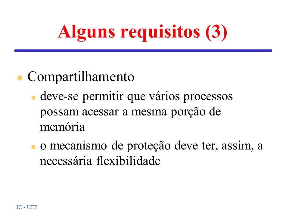 Alguns requisitos (3) Compartilhamento