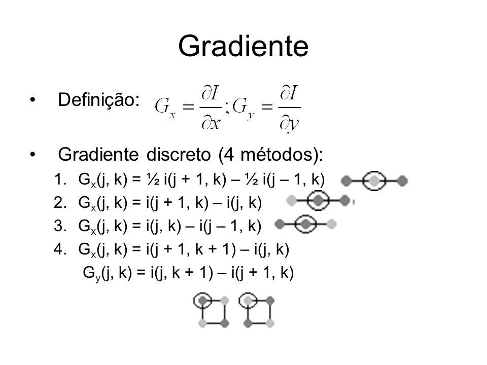 Gradiente Definição: Gradiente discreto (4 métodos):