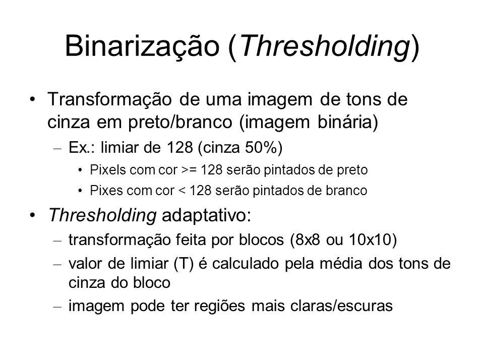 Binarização (Thresholding)