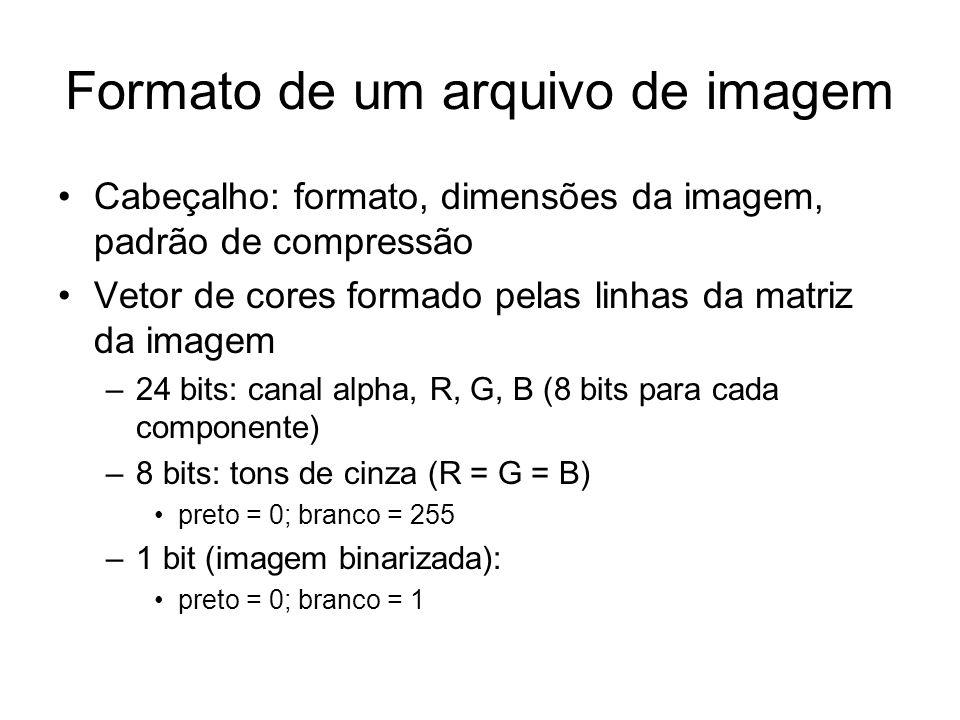Formato de um arquivo de imagem