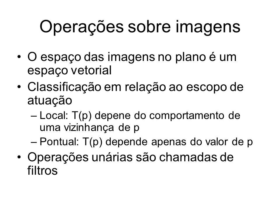 Operações sobre imagens