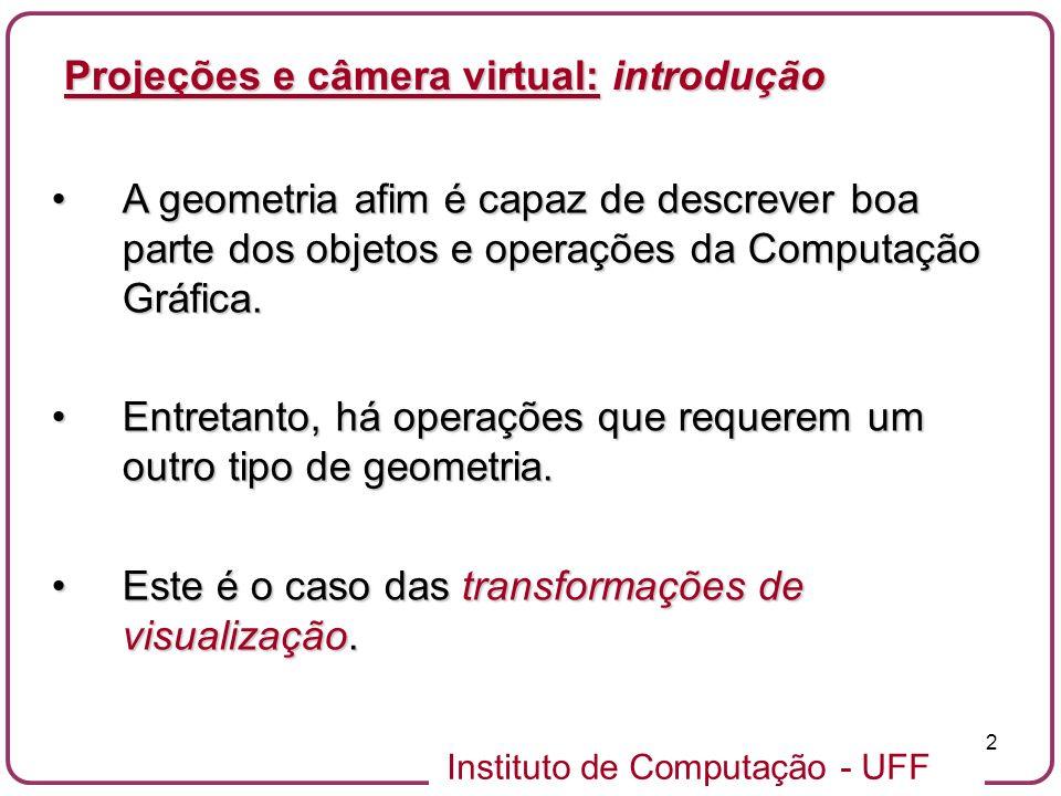 Projeções e câmera virtual: introdução