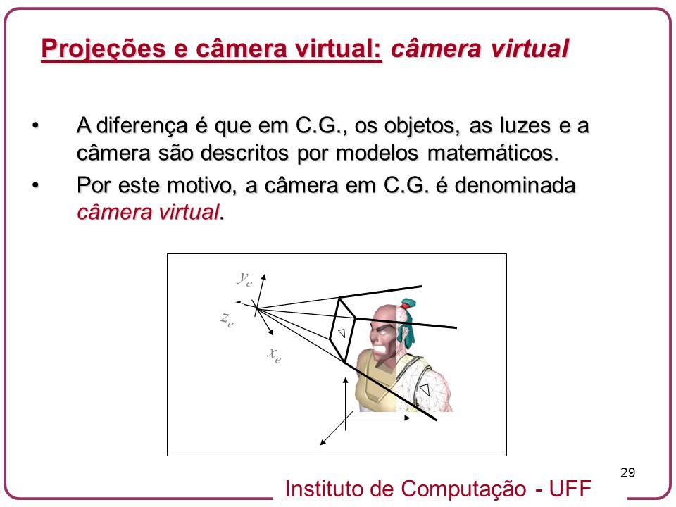 Projeções e câmera virtual: câmera virtual