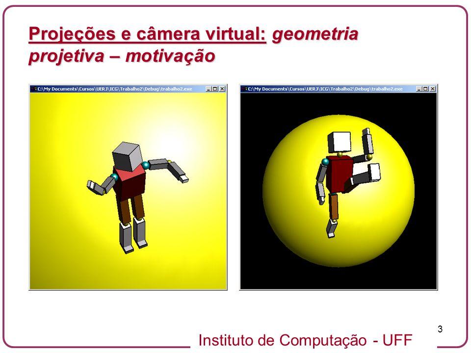 Projeções e câmera virtual: geometria projetiva – motivação