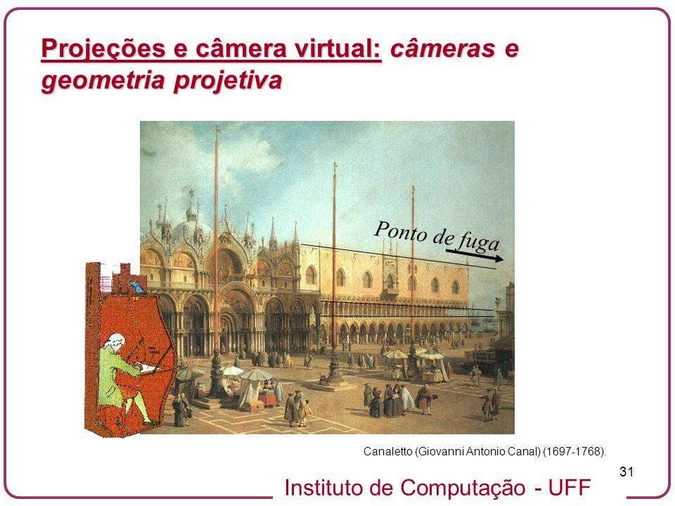 Projeções e câmera virtual: câmeras e geometria projetiva