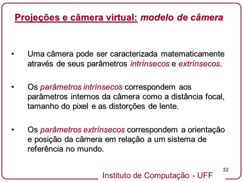 Projeções e câmera virtual: modelo de câmera