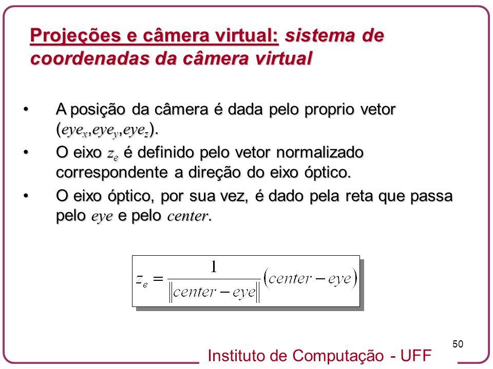 Projeções e câmera virtual: sistema de coordenadas da câmera virtual