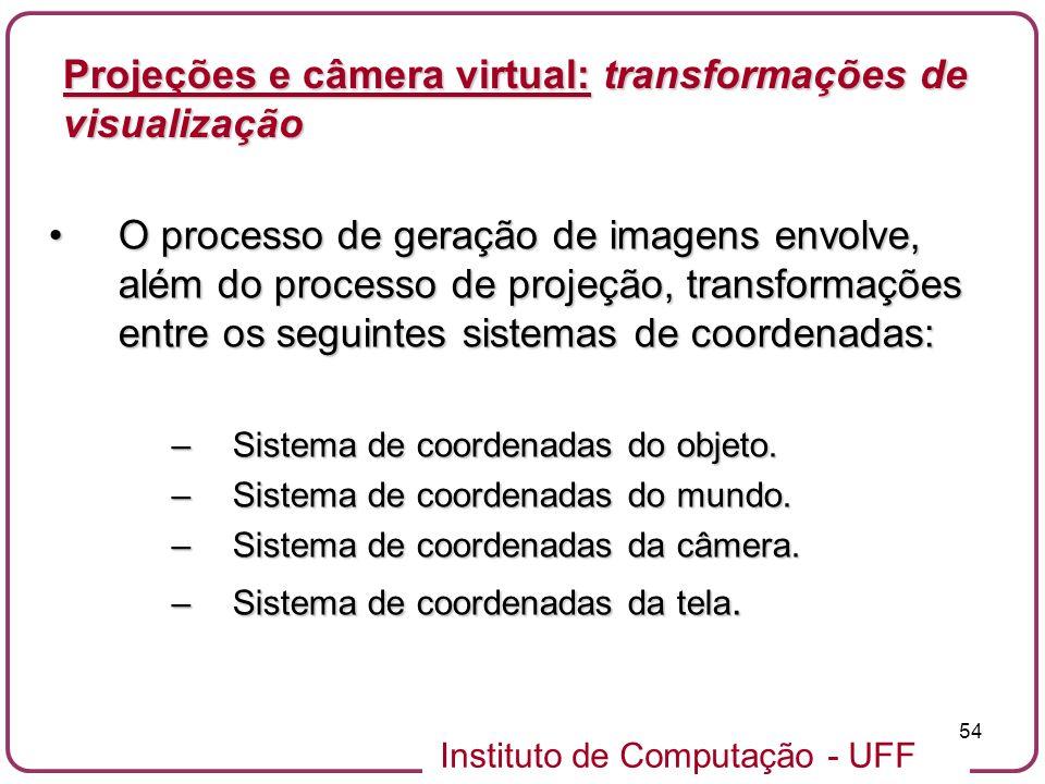 Projeções e câmera virtual: transformações de visualização