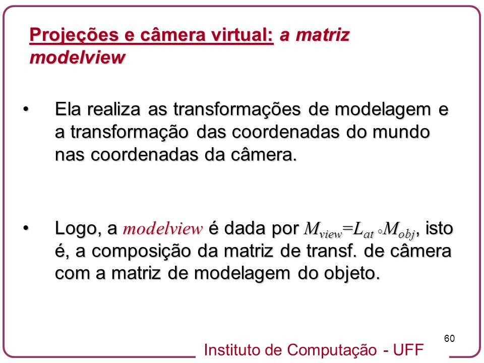 Projeções e câmera virtual: a matriz modelview