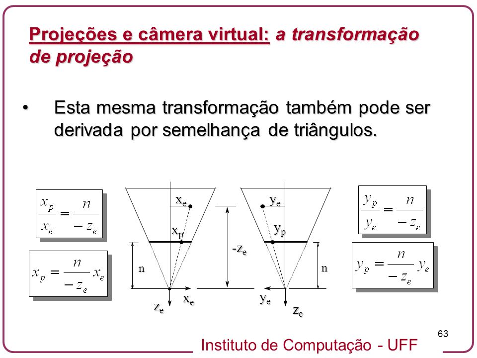 Projeções e câmera virtual: a transformação de projeção