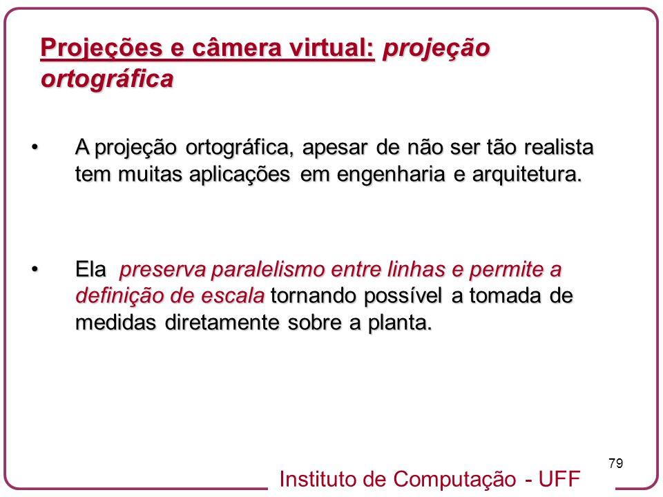 Projeções e câmera virtual: projeção ortográfica