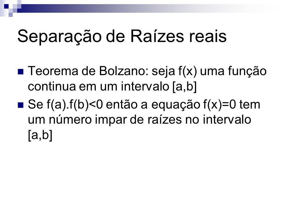 Separação de Raízes reais