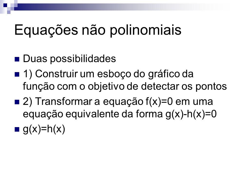 Equações não polinomiais