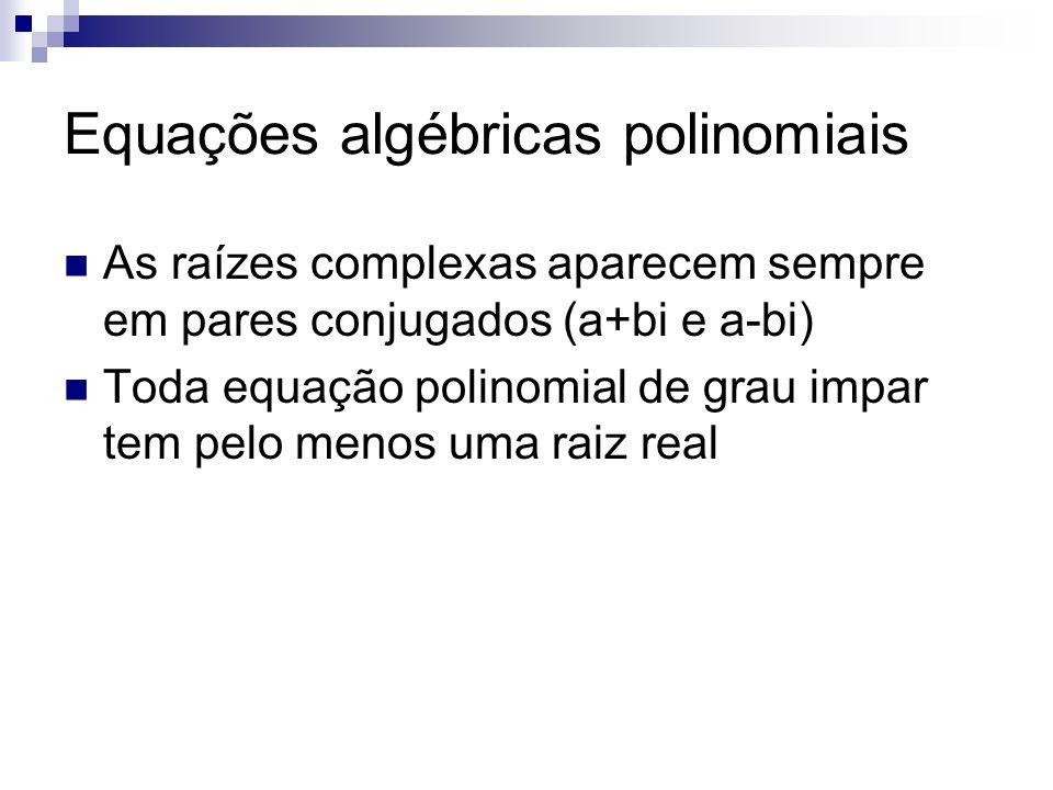 Equações algébricas polinomiais