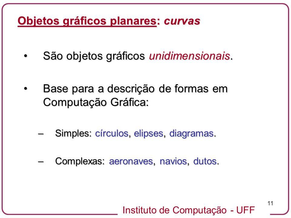 Objetos gráficos planares: curvas