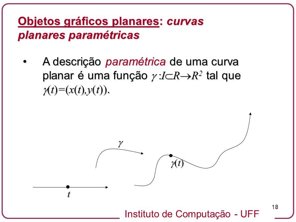 Objetos gráficos planares: curvas planares paramétricas
