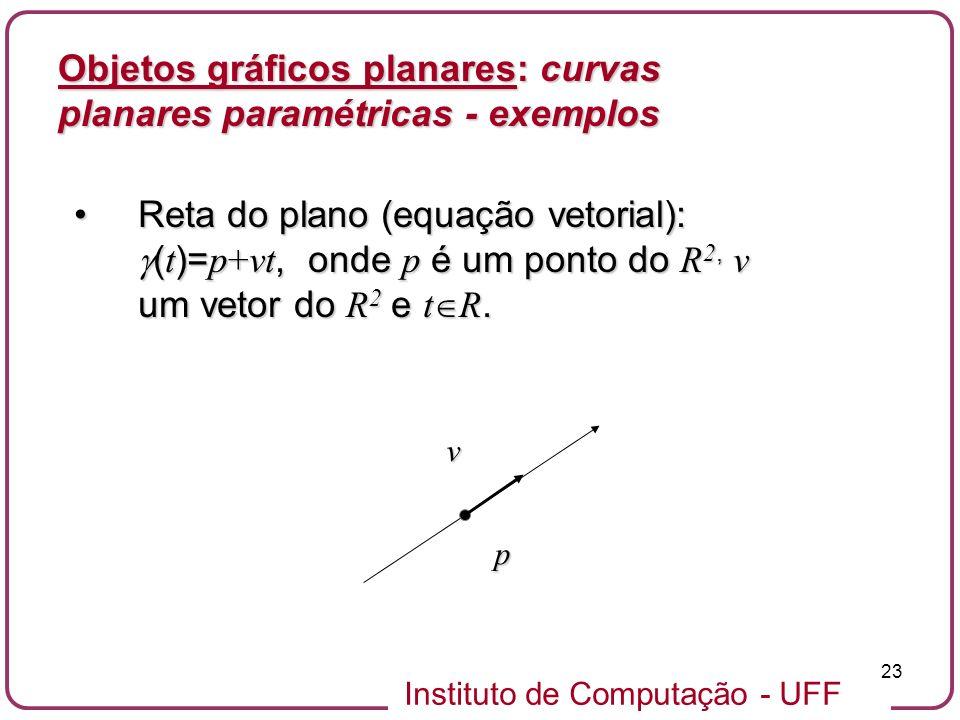 Objetos gráficos planares: curvas planares paramétricas - exemplos