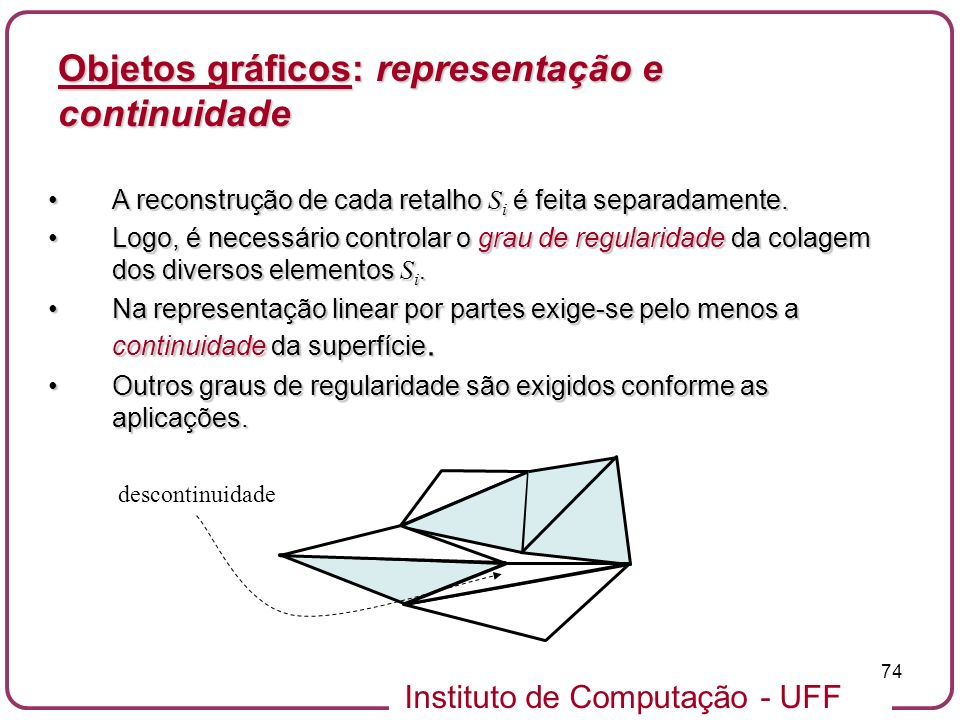 Objetos gráficos: representação e continuidade