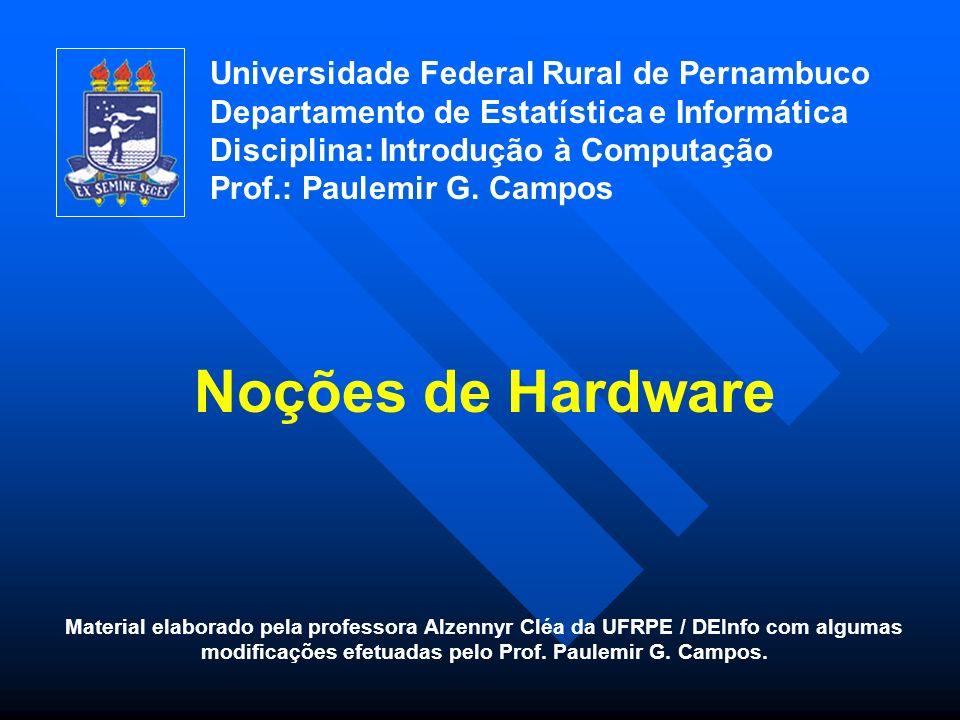 Noções de Hardware Universidade Federal Rural de Pernambuco