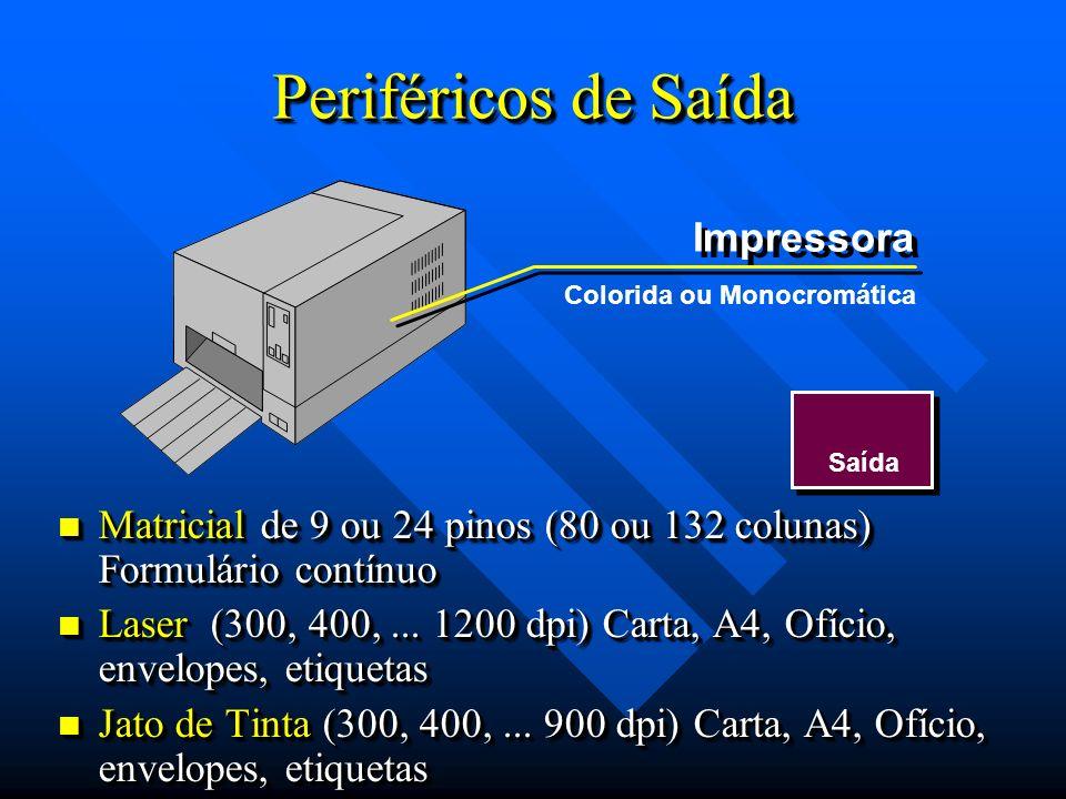 Periféricos de Saída Impressora