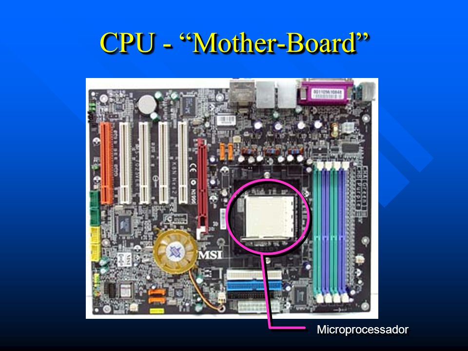 CPU - Mother-Board Microprocessador 19