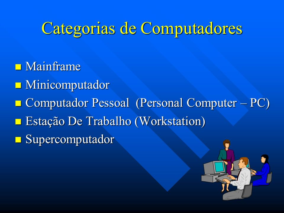 Categorias de Computadores