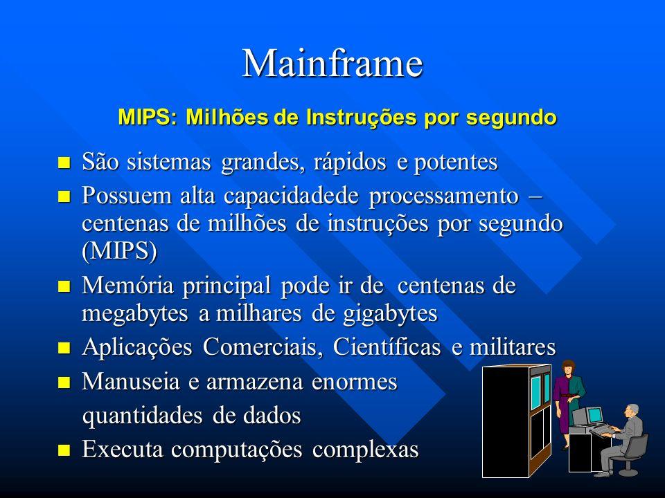 Mainframe São sistemas grandes, rápidos e potentes