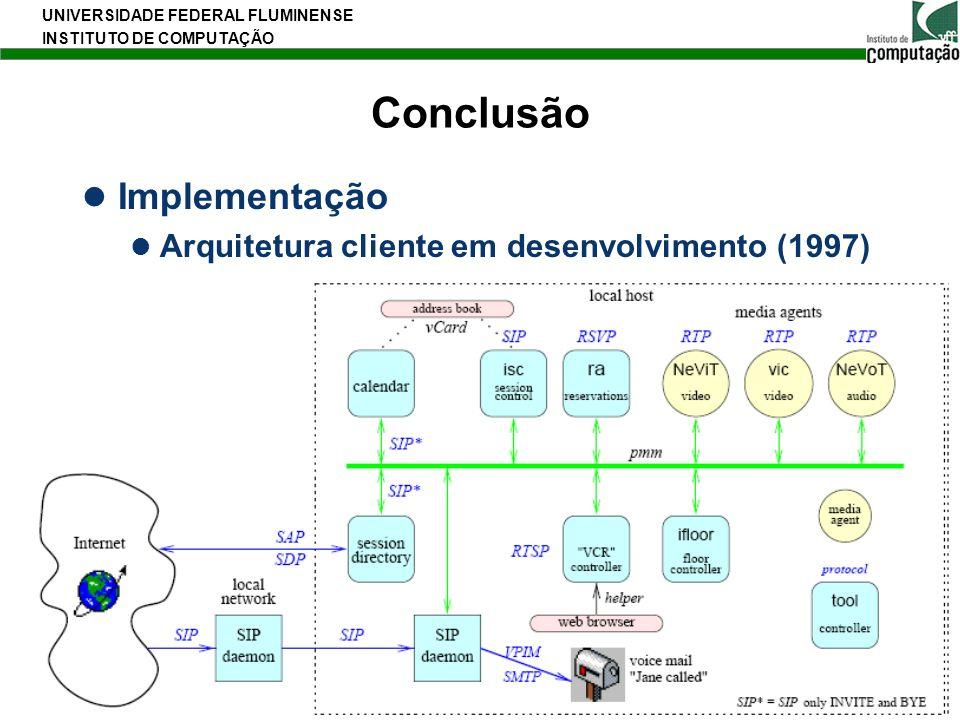 Conclusão Implementação Arquitetura cliente em desenvolvimento (1997)