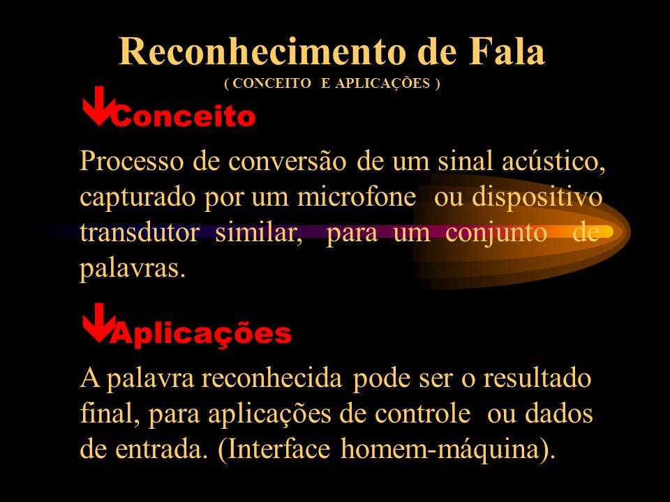 Reconhecimento de Fala ( CONCEITO E APLICAÇÕES )
