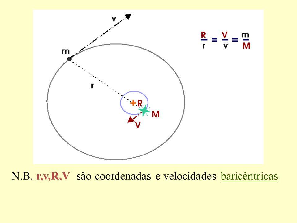 N.B. r,v,R,V são coordenadas e velocidades baricêntricas