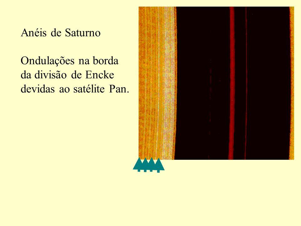 Anéis de Saturno Ondulações na borda da divisão de Encke devidas ao satélite Pan.