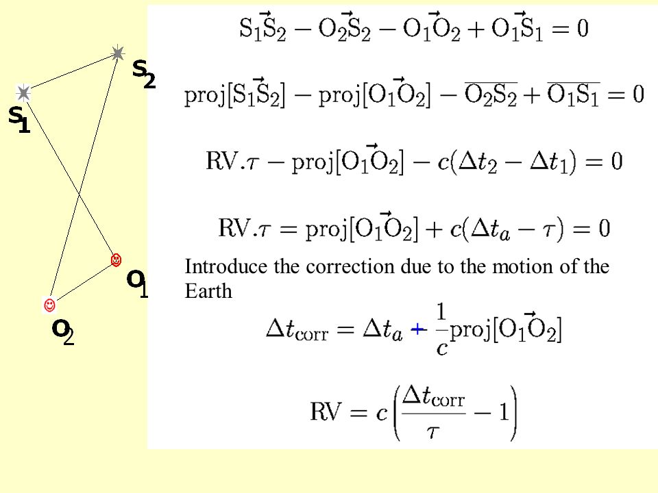 Introduce the correction due to the motion of the Earth