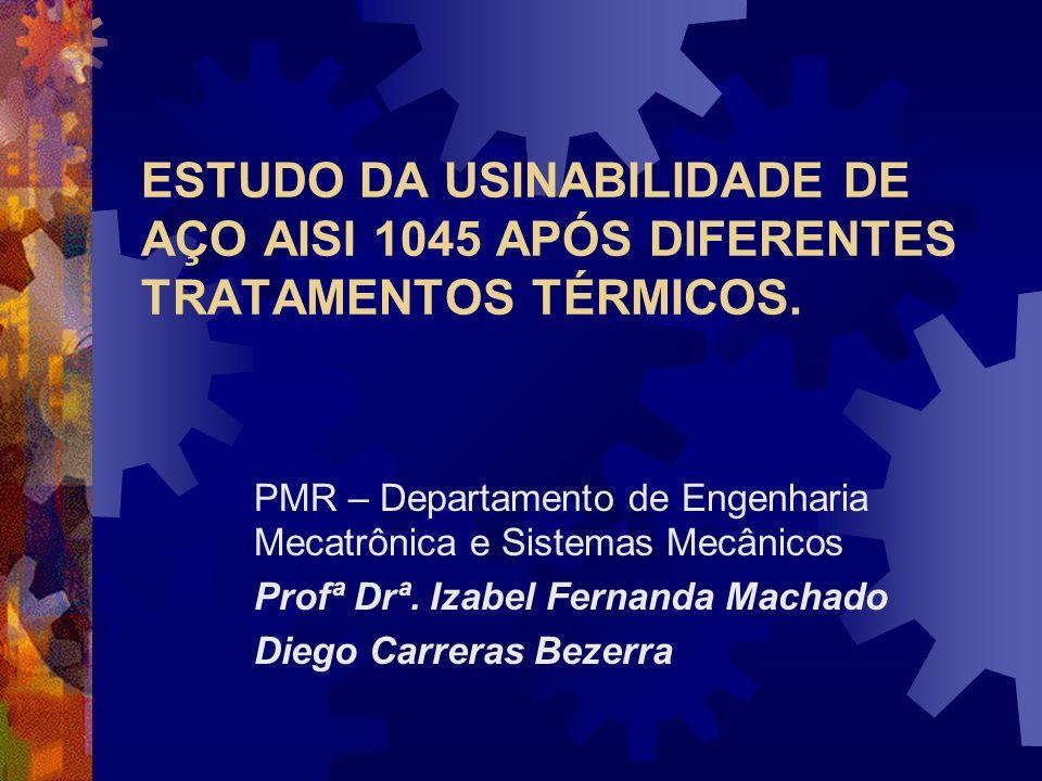 ESTUDO DA USINABILIDADE DE AÇO AISI 1045 APÓS DIFERENTES TRATAMENTOS TÉRMICOS.