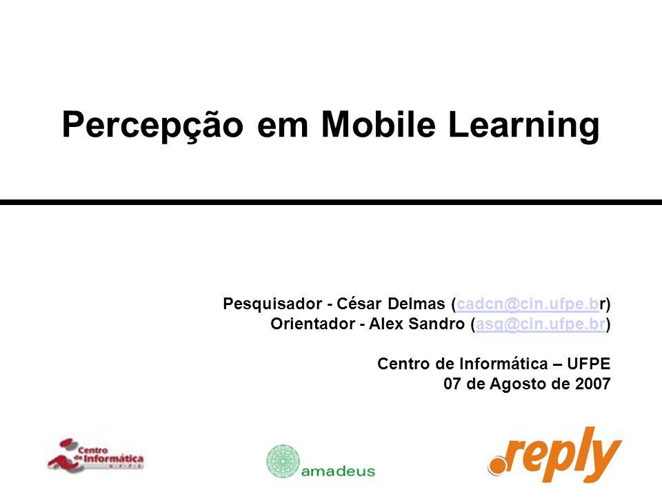 Percepção em Mobile Learning