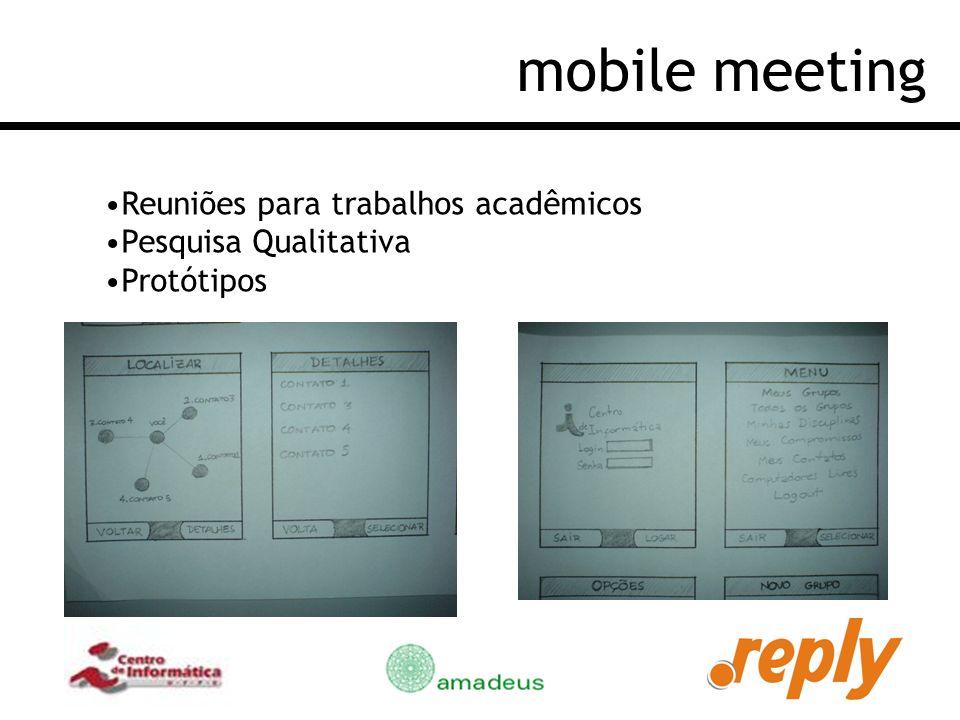 mobile meeting Reuniões para trabalhos acadêmicos Pesquisa Qualitativa