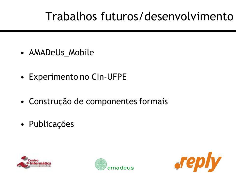 Trabalhos futuros/desenvolvimento
